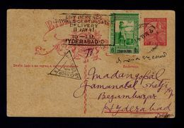 """""""Passed By Censor"""" Postal Stationery With Additional """"VASCO DA GAMA"""" Discoveries Slogan Pmk Portugal INDIA 1947 Gc3213 - Inde Portugaise"""
