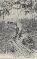 COTE D'OR - DIJON - CHARBONNIERS EN FORET - ECORCAGE DU CHENE - PRECURSEUR POSTEE DE DIJON 1903 2 SCANS - Dijon