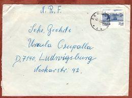 Brief, EF Schiffe Auf Der Weichsel, Zedowice Nach Ludwigsburg 1983? (71448) - 1944-.... Republik