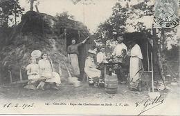 COTE D'OR - DIJON - REPAS DES CHARBONNIERS - EDITEUR LOUIS VENOT - PRECURSEUR POSTEE DE DIJON 1903 2 SCANS - Dijon
