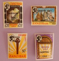 ZANZIBAR  YT  298 /301 NEUF ANNEE 1964 1 PLI SUR LE NUMERO 300 VOIR 2 SCANS - Zanzibar (1963-1968)