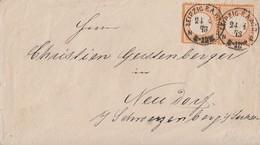 DR Brief Mef Minr.2x 18 K1 Leipzig 24.4.73 - Briefe U. Dokumente