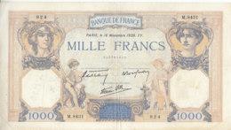 Billet 1000 F Cérès Et Mercure Du 16 Novembre 1939 FAY 38.39 Alph. M.8431 - 1871-1952 Frühe Francs Des 20. Jh.