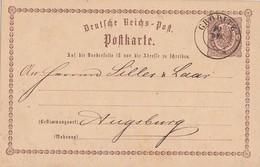 DR Ganzsache K2 Gröditz 20.12. Gel. Nach Augsburg - Briefe U. Dokumente