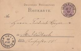 DR Ganzsache K1 Montjoie 18.9.89 - Deutschland
