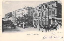 Algérie  ALGER Le Théâtre  (animation) (- Cpa DOS SIMPLE Année 1902)* PRIX FIXE - Algeri
