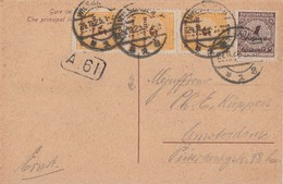 DR AK Mif Minr.325A, 3x 327B Wiesbaden 24.11.23 Gel. Nach Holland - Briefe U. Dokumente