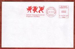 Umschlag, Vorfuehrstempel, Francotyp-Postalia B75-3273, Spektakel Theatergesellschaft Mainz, 1993 (71456) - BRD