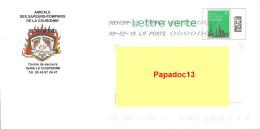 """Enveloppe Pré-timbrée """"Lettre Verte"""" - Amicale Des Sapeurs-Pompiers De La Couronne (Charente) - Circulée 2019 - PAP: Sonstige (1995-...)"""