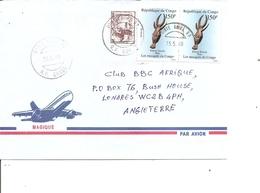 Congo Brazzaville ( Lettre Par Avion De 1990 De Pointe Noire Vers La Grande-bretagne à Voir) - Used