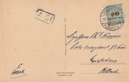 DR AK EF Minr.329B  Frankfurt 26.11.23 Gel. Nach Holland November-Beleg - Briefe U. Dokumente