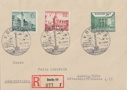 DR R-Brief Mif Minr.740,741,743 SST Berlin 31.3.40 - Briefe U. Dokumente