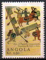 ANGOLA 1v MNH** Spanish Conquest Of Aztecs And Incas Mexico Archery Horses Arrows Tiro Al Arco Bogenschießen España - Autres