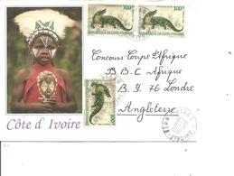 Cote D'Ivoire ( Lettre De 1991 De Biago Vers La Grande-Bretagne à Voir) - Ivory Coast (1960-...)