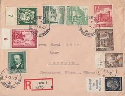DR R-Brief Mif Minr.665 OR,760,762,775 Zdr. Minr.S211,S258,S266 Graz 7.2.41 - Deutschland