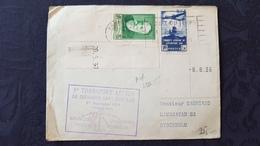 Affaire !!! 3 Lettres De 1eres Liaisons Aériennes 1937 Avec Timbres Normaux - Air Post