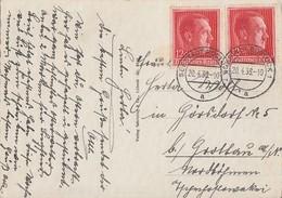 DR AK Mef Minr.2x 664 Rostock 20.4.38 - Briefe U. Dokumente