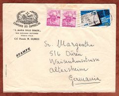 Vordruckbrief Convento Dei Cappuccini, MiF Postleitzahl U.a., San Giovanni Rotondo Nach Dueren 1967 (71461) - 6. 1946-.. Republik