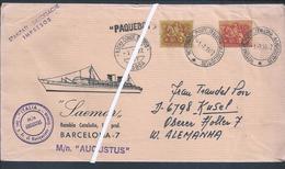 Paquebot Of The Cruise Augustus, From Italy With Obliteration Rocha Conde Óbidos, Lisbon. Alcântara Dock Terminal. Rare - Variétés Et Curiosités