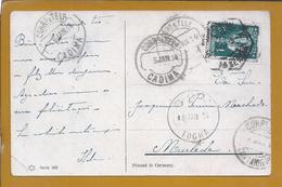Tocha. Cadima. Cantanhede. Murtede. Coimbra. Postal Circulado Em 1914. - 1910 - ... Repubblica