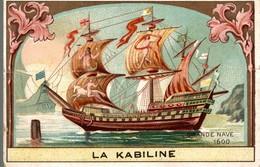 CHROMO  LA KABILINE LA VERITABLE TEINTURE DES MENAGES  GRANDE NAVE 1600 - Chromos