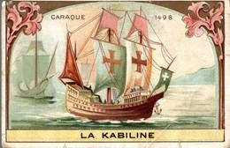 CHROMO  LA KABILINE LA VERITABLE TEINTURE DES MENAGES  CARAQUE 1498 - Chromos