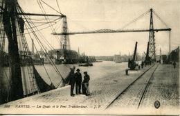 44 Nantes- Les Quais Et Le Pont Transbordeur - Nantes