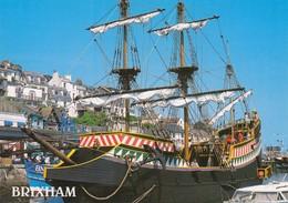 Postcard Brixham Harbour The Golden Hind Devon  My Ref  B23498 - England