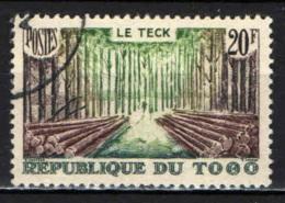 TOGO - 1957 - TRASPORTO DEL LEGNO - USATO - Usati
