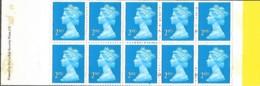 Grande-Bretagne Great Britain 1989 Elizabeth II 10 X 2 ND (blue) De La Rue, 1 Carnet Booklet Mnh - Carnets
