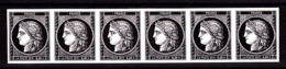 Cérès Bande De 6 X 0.20 €  Non Dentelé, 170 Ans Du Premier Timbre De France 1849/2019 - Neufs