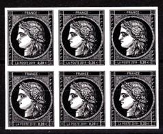 Cérès Bloc De 6 X 0.20 €  Non Dentelé, 170 Ans Du Premier Timbre De France 1849/2019 - Unused Stamps