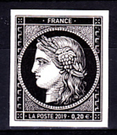 Cérès Un T 0.20 € Non Dentelé, 170 Ans Du Premier Timbre De France 1849/2019 - Neufs
