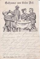 AK Gastzimmer Zum Fidelen Faß - Künstlerkarte - Humor Bier Paar Gasthaus - Ca. 1900  (40265) - Hotels & Gaststätten