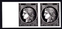 Cérès Paire 2 X 0.20 € Bord De Feuille Non Dentelé, 170 Ans Du Premier Timbre De France 1849/2019 - Neufs