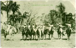 ESPOSIZIONE DI MILANO 1906  Villaggio Eritreo N° 83  Cartolina Ufficiale Guerrieri A Cavallo Con Spade - Esposizioni