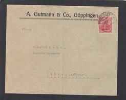 PERFIN/PERFORATION/FIRMENLOCHUNG. A. GUTMANN & CO,GÖPPINGEN. - Lettres & Documents