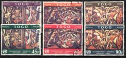 TOGO - 1967 - MURALE DI JOSE' VELA ZANETTI PRESSO L'EDIFICIO ODELL'ONU - USATI - Togo (1960-...)
