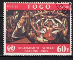 TOGO - 1967 - MURALE DI JOSE' VELA ZANETTI PRESSO L'EDIFICIO ODELL'ONU - USATO - Togo (1960-...)