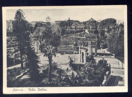 CATANIA-VILLA BELLINI-AL RETRO PUBBLICITA BIRRA MESSINA - Catania