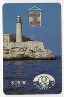 CUBA REF MVCARD CUB-04 25$ EL MORO CASTLE - Cuba