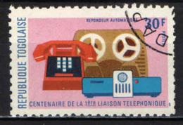 TOGO - 1975 - 1^ CENTRALE TELEFONICA  - USATO - Togo (1960-...)