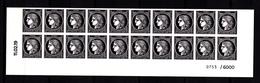Cérès Bas De Feuille 20 X 0.20 € Non Dentelé, Coin Daté, N° De Feuille, 170 Ans Du Premier Timbre De France 1849/2019 - Unused Stamps