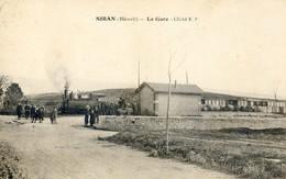 34 - Siran - La Gare Avec Le Train - Cliché E P - Frankrijk