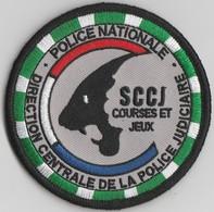 Écusson Police DCPJ - Service Central Des Courses Et Jeux - Police & Gendarmerie