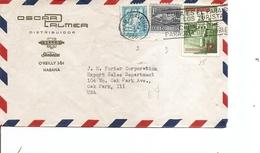 Cuba ( Lettre De 1956 De LaHavane Vers Les USa à Voir) - Lettres & Documents