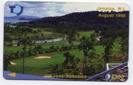 JAMAIQUE REF MV CARDS JAM-19B 200$ Annee 1993 CN : 19JAMB GOLFERS PARADISE - Giamaica