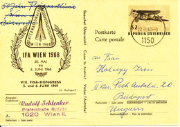 Austria Postal Stationery IFA Wien 30-4/4-6-1968 International Airmail Exhibition - Stamped Stationery