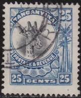 Tanganyika     .   SG  .       91         .    O   .      Cancelled    .   /    .    Gebruikt - Kenya, Uganda & Tanganyika