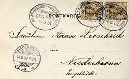Cachet Ambulant SAARGEMÜND-HAGENAU, Daté Du 14/06/1902 - Alsace-Lorraine